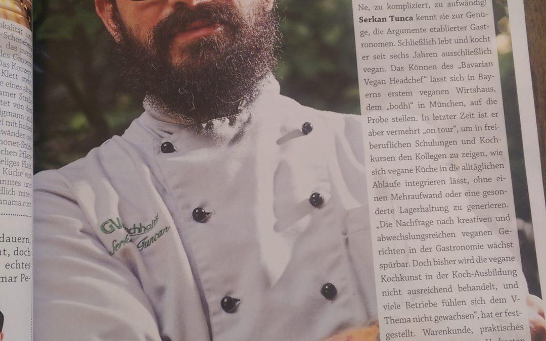 Der Bavarian Vegan Headchef im fizzz Gastromagazine
